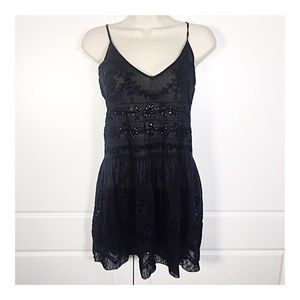 Free People Black Cotton Eyelet Top or Cover-up